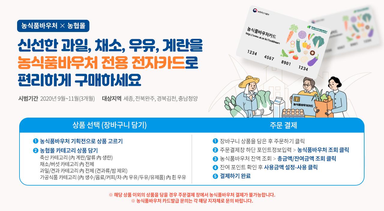 2020 농식품바우처 시범사업(9월1일~)