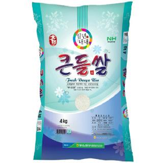 농협하나로마트 군산 대야농협 큰들쌀 (신동진) 4kg (2020년산)