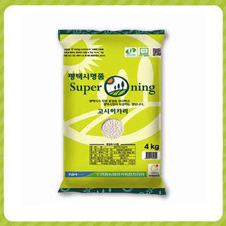 안중농협 슈퍼오닝쌀(고시히카리), 4kg, 2019년산