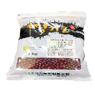 [완주 고산농협][단품] 친환경 땅기운 팥(적두)1kg(2020년산,국내산)