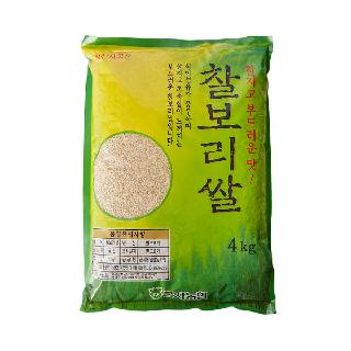 농협하나로마트 군자농협 찰보리쌀,4kg (2020년산)