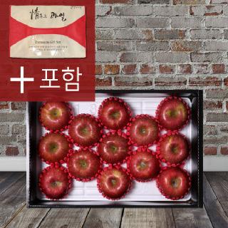 [봉화미담] 사과 과일세트 4kg(11~13과/제수용 대크기), 부직포가방 포장