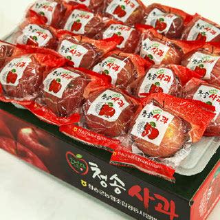 농협 껍질째먹는 청송 꿀맛 세척사과 8kg(중대과/31내)