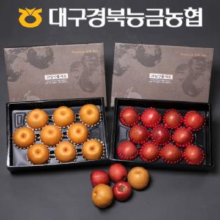 [9월 16일 순차 출고] 경북능금농협 프리미엄 선물세트 9kg(사과4kg/대과)+(배5kg/대과)