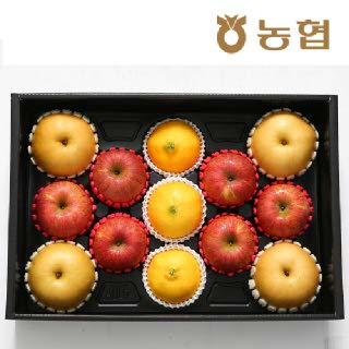 VIP 황금혼합+복주머니세트 5kg(사과6+배4+황금향3입)