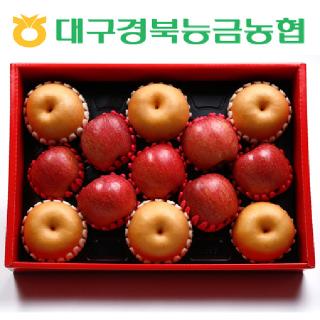 [9/27 오전 9시 결재까지 추석전 배송][경북능금농협] 사과·배 혼합세트2호 6kg(사과7과, 배6과/대과)