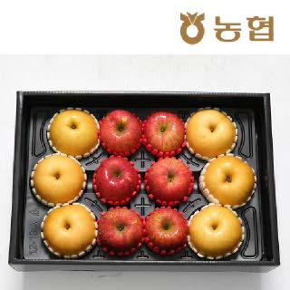 [명절 전 발송가능!] 경북능금농협 사과배혼합세트6kg 사과6입 배6입(대과) 부직포가방포함