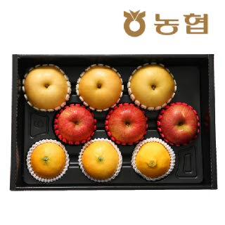 [대구경북능금농협] 황금혼합 과일세트 3.5kg (사과3입+배3입+황금향3입)