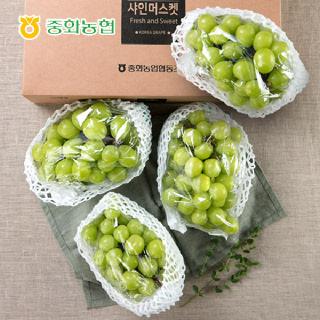 중화농협 샤인머스켓 프리미엄 선물세트 4kg 특(4~5송이),박스