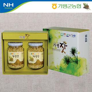 가평군농협 가평잣 실속 3호 / 140*2개입+선물포장지 포장