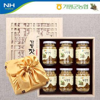 가평군농협 가평잣 선물세트 오한 1호 840g(140gx6개)