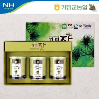 가평군농협 고소한 가평잣 캔 선물세트 2호 (140g x 3캔)
