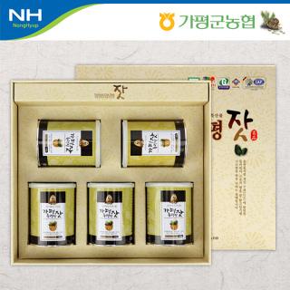 가평군농협 고소한 가평잣 캔 선물세트 3호 700g(140g*5캔)