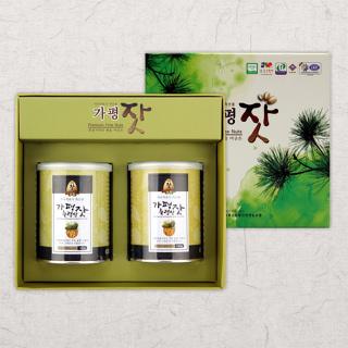 가평잣 고소한 가평잣 캔 선물세트 1호
