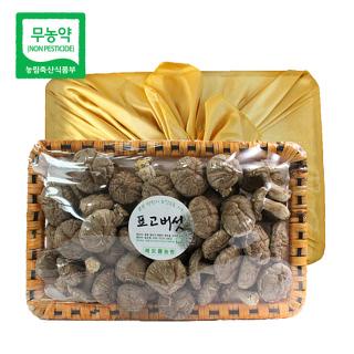 초정 무농약 건표고버섯 선물세트 300g(화고)_보자기포함