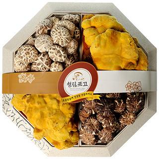 국내산 표고버섯 명품잎새세트 330g [보자기포함]