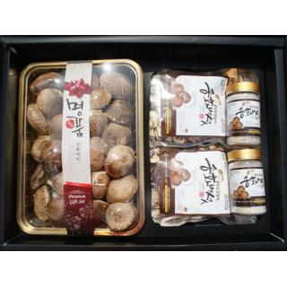 공주도담농원 송화고버섯선물세트3호(생송화고버섯1kg+건슬라이스100g 2개+분말100g 2개)