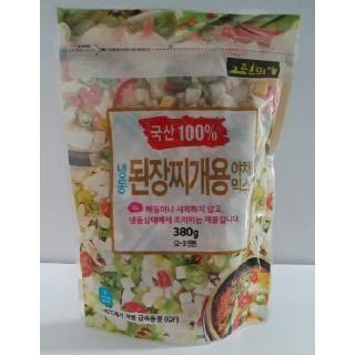 [할인특가]국내산 냉동 된장찌개용 야채믹스(380g*3봉)