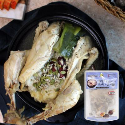 두메산골의 토종닭 1.3kg+한방부재료, 옻육수 추가구매