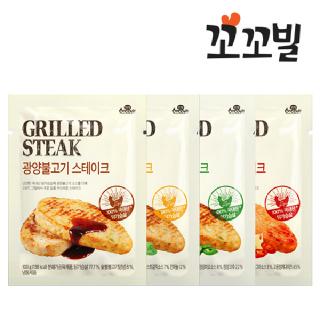 [꼬꼬빌] 부드러운 닭가슴살 스테이크 4종 15팩