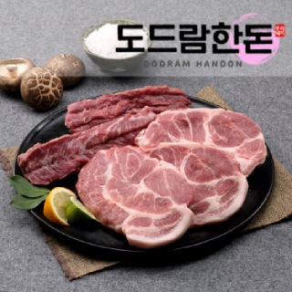 도드람한돈 갈매기살300g + 목살 구이용500g (총800g)