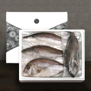 [착한어부]반건조 제수용 생선 알찬 세트 / 민어 1미(특대)+대서양조기 3미+참돔 1미(대)+우럭1미(대)