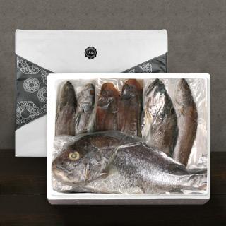 [착한어부] 반건조 제수용 생선 프리미엄 세트 / 민어 1미(대)+대서양조기 3미(대)+참돔 1미(특대)+서대 3미(대)+우럭 1미(대)