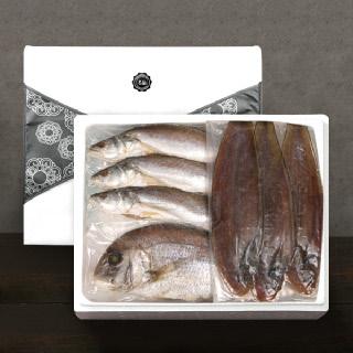 [착한어부]반건조 제수용 생선 실속 세트 / 대서양조기 3미(대)+참돔 1미(대)+서대3미(대)