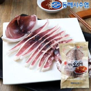 [동해시수협] 손질오징어 1.6kg (팩당 400g/2미, 4팩)