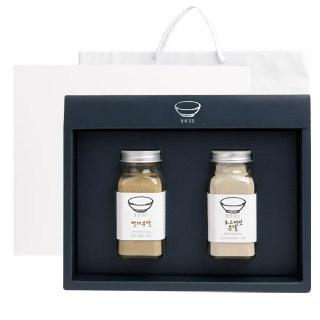 [정성깃든] 국내산 천연조미료 2종 선물세트 / 멸치+표고버섯