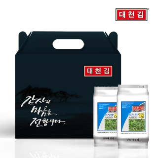 대천김 (5+1) 도시락김 5g 16봉 선물세트 (5세트 구매시 1세트 증정)