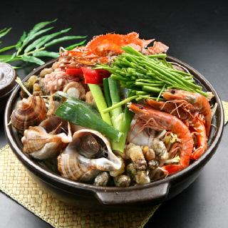 [착한어부] 해물탕 1kg (절단꽃게,바지락,가리비,홍합 등 6종+소스)