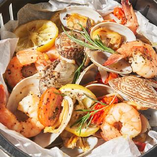 [삼삼해물] 색다른 해산물 요리! 왕바지락&새우 파피요트