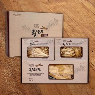 속초시수협 황태 선물세트 2호(황태포 3미+황태채 100g*2팩)