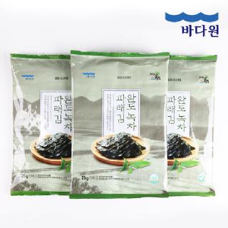 바다원 국산 완도 녹차 파래 전장김 25gx3봉