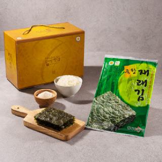 국내산 참기름 사용 죽향재래김 20g 10봉지