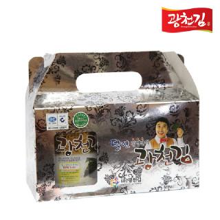 광천김 달인 김병만의 광천김 캔김 선물세트 2P (재래/파래)