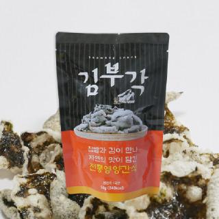 버섯가루 수제 찹쌀 김부각 5봉