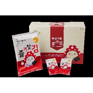 버섯가루 즐겨찾김 특2호 전장·도시락김 혼합 선물세트