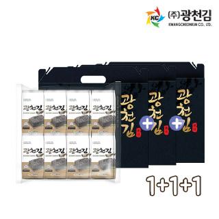 광천김 재래 도시락김 16봉선물세트 1+1+1 (총 48봉)