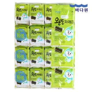 바다원 국산 완도 파래김 도시락김 4gx16봉 3묶음(48봉)