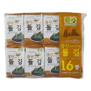 농협하나로마트  광천도시락돌김(4g*16봉)