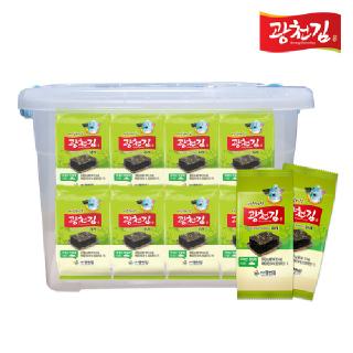 [리빙박스 증정] 광천김 바삭한 파래도시락김 4g x 32봉