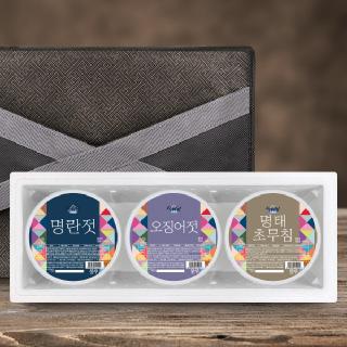 [설해담] 속초젓갈 알찬 선물세트 2호 /명란+오징어+명태초무침/ 각500g