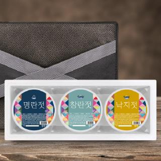 [설해담] 속초젓갈 알찬 선물세트 1호 /명란+창란+낙지/ 각500g
