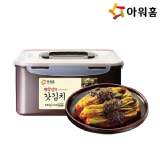 아워홈 손수 아삭갓김치 3.5kg + 김치전용 용기