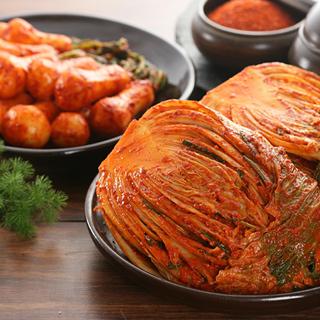 [농협몰]오색소반 포기김치3kg+총각김치3kg