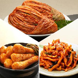 [농협몰]오색소반 김치세트 포기3kg+총각3kg+무말랭이1kg