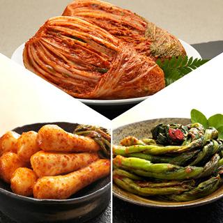 [농협몰]오색소반 김치세트 포기3kg+총각3kg+갓김치1kg