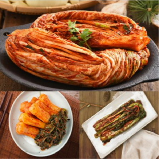 [국산 100%]농협 아름찬 김치 선물세트 포기2kg+총각2kg+갓1kg